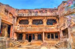 Jaganatha Sabha, cueva ningunos de Ellora 33 Sitio del patrimonio mundial de la UNESCO en el maharashtra, la India Foto de archivo libre de regalías