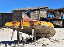 Jaganda łódź na plaży fotografia royalty free