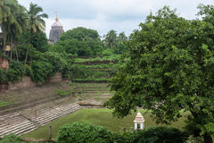 Jagannath普里寺庙池塘 免版税库存图片