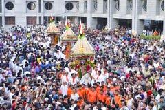 Jagannath阁下的137th拉斯Yatra在艾哈迈达巴德开始, 免版税库存图片