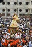 Jagannath阁下的137th拉斯Yatra在艾哈迈达巴德,拉斯Yatra开始 免版税库存图片