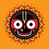 Jagannath Индийский бог вселенного бесплатная иллюстрация