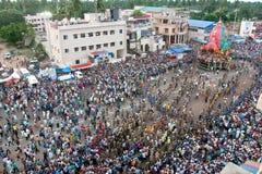 Jagannath chariot pulling at puri odisha india