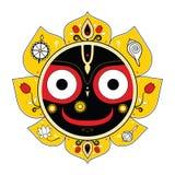 Jagannath. Indisk gud av universumet. Arkivbilder