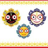 Jagannath Indisk gud av universumet Arkivfoton