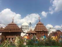 Jagannath tempel i Hyderabad, Indien Arkivbild