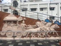 Jagannath tempel i Hyderabad, Indien Royaltyfri Foto