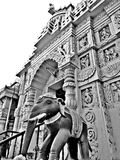 Jagannath Temple. Black and white stock photo