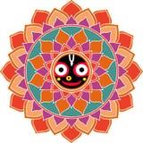 Jagannatha Mandala, dios indio Krishna, liebre Krishna Oriental Ornament ilustración del vector