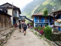 Jagat village Royalty Free Stock Photos