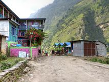 Jagat village Stock Photo