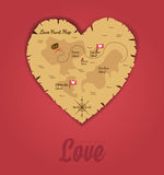 Jagd des Liebes-Hintergrundes Stockbild