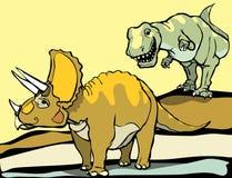 Jagd des Triceratops Lizenzfreies Stockfoto