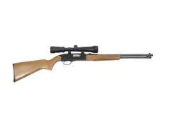 Jagd-Gewehr lokalisiert auf einem weißen Hintergrund Stockfotografie