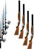 Jagd und Fischen Lizenzfreies Stockbild