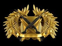Jagd - Wappen mit Gewehren Lizenzfreies Stockfoto