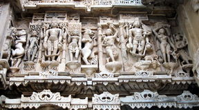 Jagdish Mandir Hindu Temple Udaipur Rajasthan India. Detail of stone carvings on the facade of Jagdish Mandir Hindu Temple, Udaipur, Rajasthan, India Royalty Free Stock Image