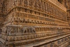 Jagdish Mandir Temple Udaipur, Indien Fragmente von Wänden lizenzfreie stockfotografie