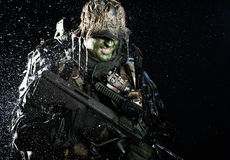 Jagdkommando in the rain Royalty Free Stock Photos