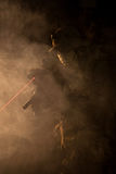 Jagdkommando in the smoke and fire Stock Photography