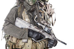 Jagdkommando soldier Austrian special forces Royalty Free Stock Images