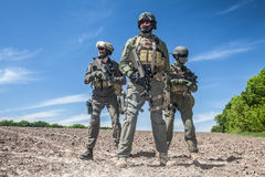 Jagdkommando soldiers special forces. Group of jagdkommando soldiers Austrian special forces Stock Photo
