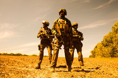 Jagdkommando soldiers special forces. Group of jagdkommando soldiers Austrian special forces Royalty Free Stock Photography
