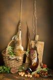 Jagdstillleben mit Hasen lizenzfreie stockfotografie