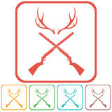 Jagdverein-Logoikone Lizenzfreie Stockbilder
