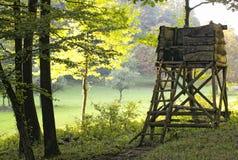 Jager ambuss in het bos royalty-vrije stock afbeelding