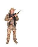 Jager met geweer Stock Foto