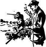 jagers royalty-vrije illustratie