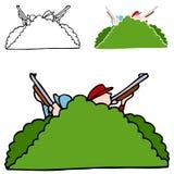 Jagers in Struiken stock illustratie