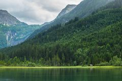 Jagersee in Austrian Alps, Salzburger Land Royalty Free Stock Photo