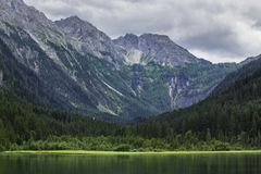 Jagersee in Austrian Alps, Salzburger Land Stock Image