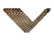 Jagged edge text letter made of natural snake skin texture. Stock Photos