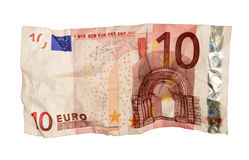Jagged Euro bill Royalty Free Stock Photo