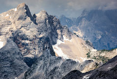 Jagged mountain ridges Royalty Free Stock Images