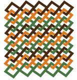 Jagged Page Design in Green, Orange and Brown Stock Photo