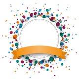 Jagged Paper Emblem Ribbon Confetti Royalty Free Stock Images