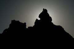 Jagged Peak Silhouette Stock Images