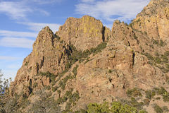 Jagged Peaks Against the Sky in the Desert Stock Photography