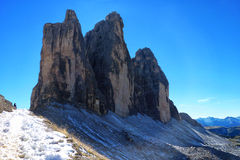 Jagged Peaks in the Alps Royalty Free Stock Photography