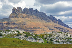 Jagged Peaks in Mountain Clouds stock photos