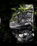 The jagged rock face off the CT River stock photos