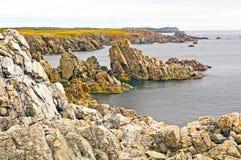 Jagged Rocks on the Newfoundland Coast Stock Photography