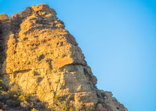 Jagged rocks at sunset Royalty Free Stock Photography