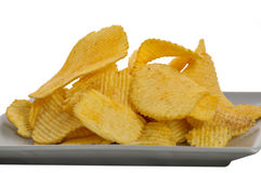 Jagged snack in grey dish Stock Photography