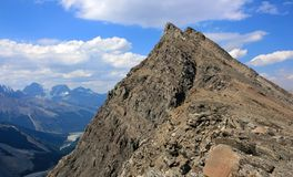 Jagged Summit. Mt. Wilcox in Jasper National Park, Alberta, Canada Royalty Free Stock Photography