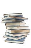 Jaggedly Gestapelde Boeken stock afbeeldingen